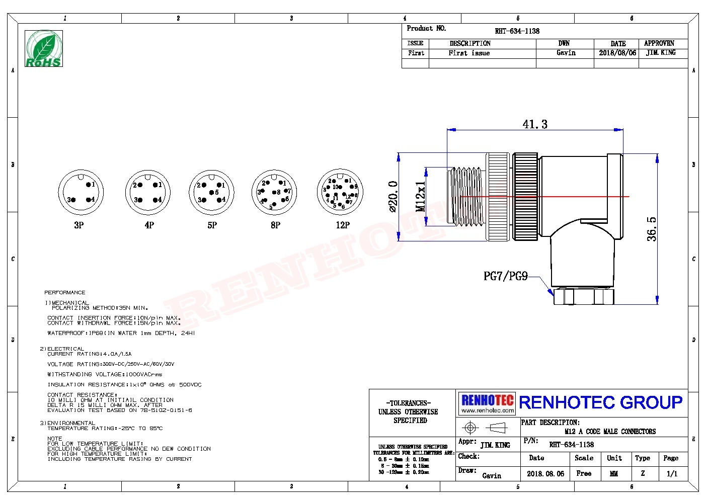 M12 5 Position Angled Male A Code With Termination Male M Wiring Diagram on
