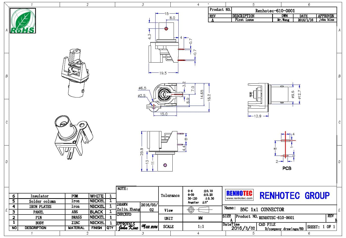 Bnc Connector Mount Angled Female For Pcb Wiring Diagram Our Cooperated Factory
