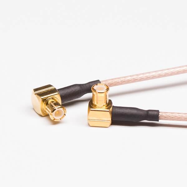 MCX接头线材棕色RG178同轴线两头焊90度MCX母头
