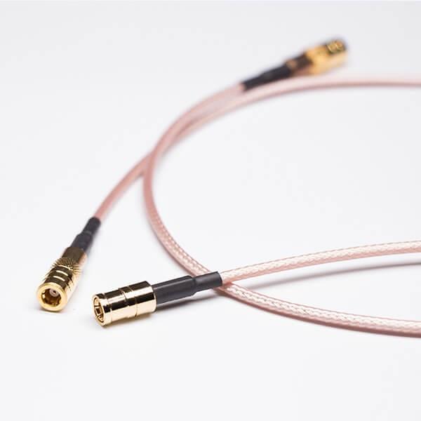 SMB端口直式母头两头焊接棕色同轴线缆RG316