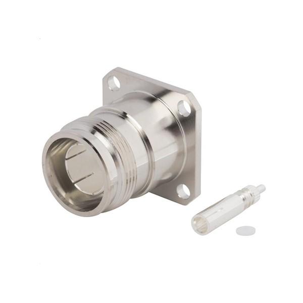 4.3/10规格连接器直式母头4孔法兰M3螺纹50欧姆