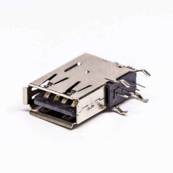 侧插usb母座穿孔式接PCB板