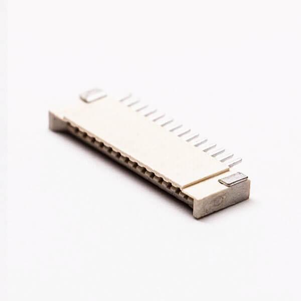 1.0 fpc连接器卧式14pin无锁双面接触2.0H接PCB