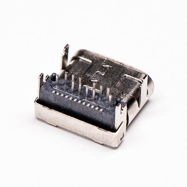 usb和type c接口弯式90度插板母头贴板