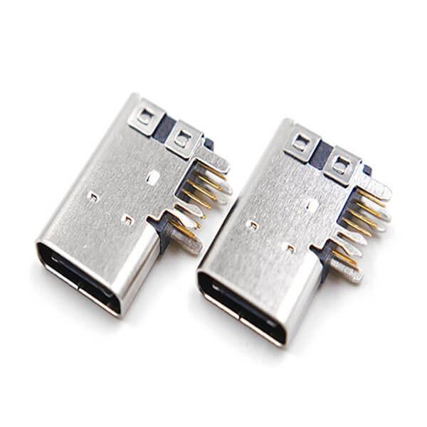 USB 3.1 C Type 90 Degree Female USB Connector Price Port
